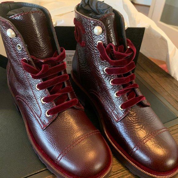 CHANEL Shoes | Chanel Burgundy Short